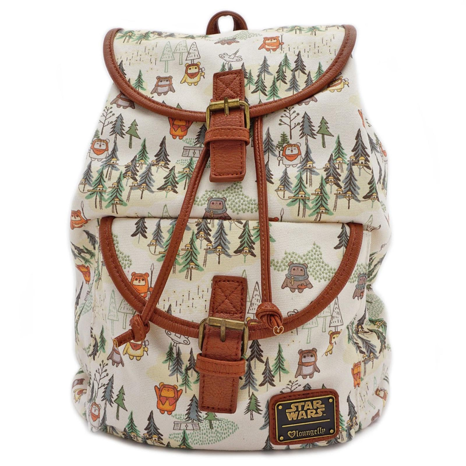 d856101776f Loungefly Star Wars Ewok Forest All Over Print Backpack