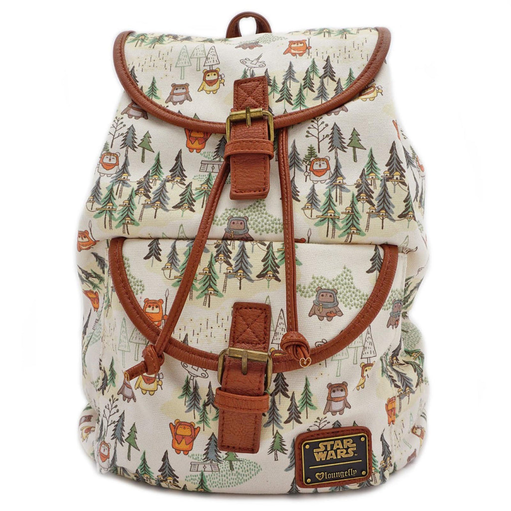 Loungefly Star Wars Ewok Forest All Over Print Backpack