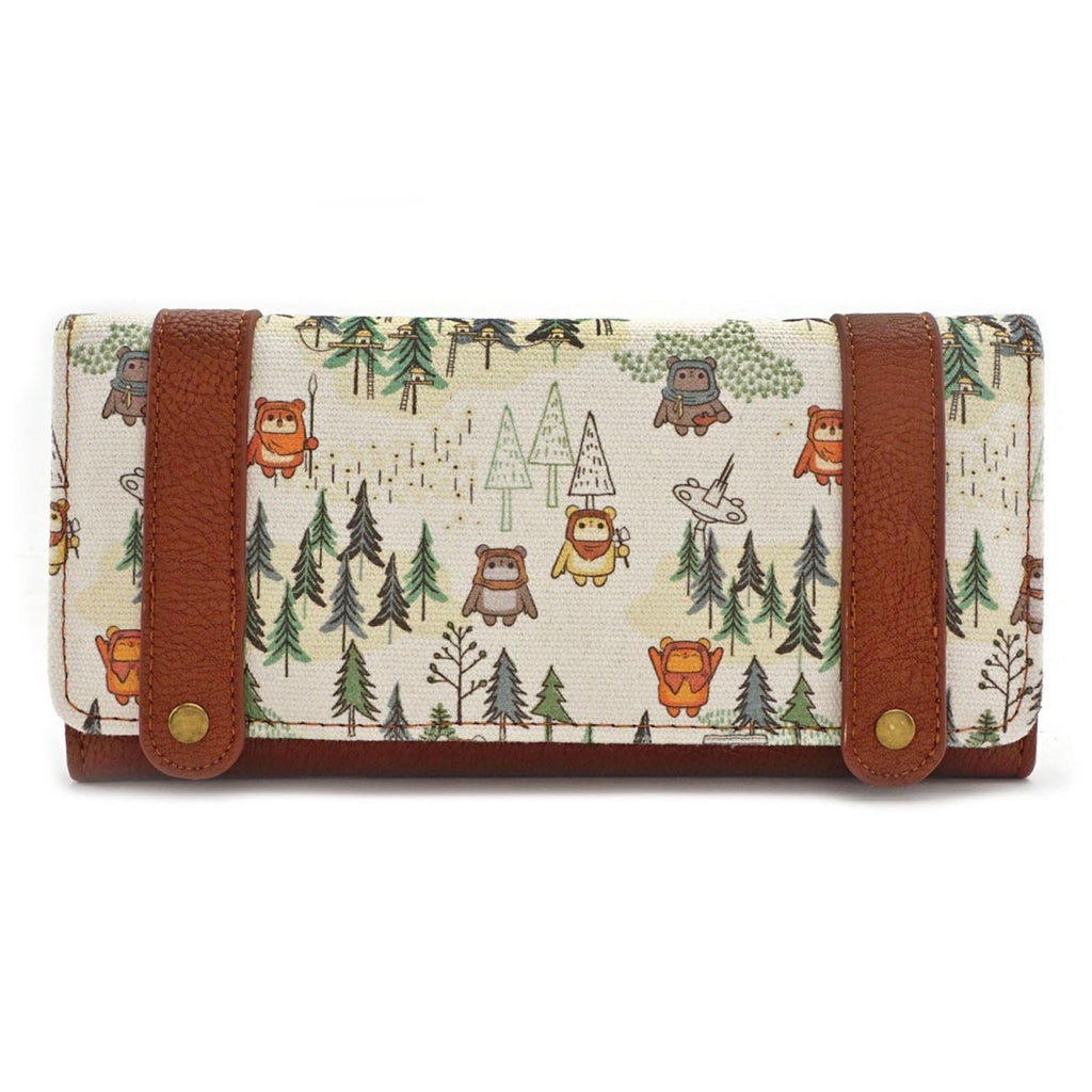 Loungefly Star Wars Ewok Forest All Over Print Tri-Fold Wallet