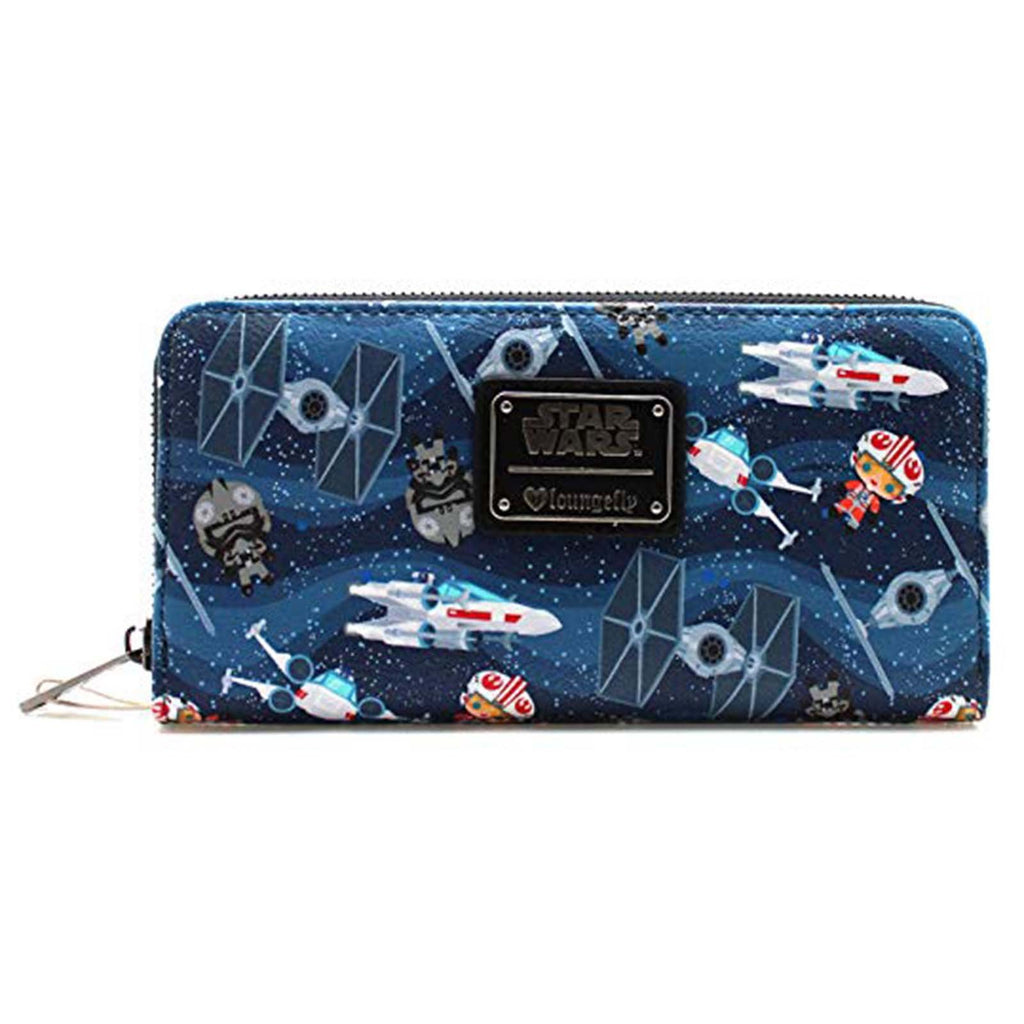 Loungefly Star Wars Kawaii Zip Around Wallet