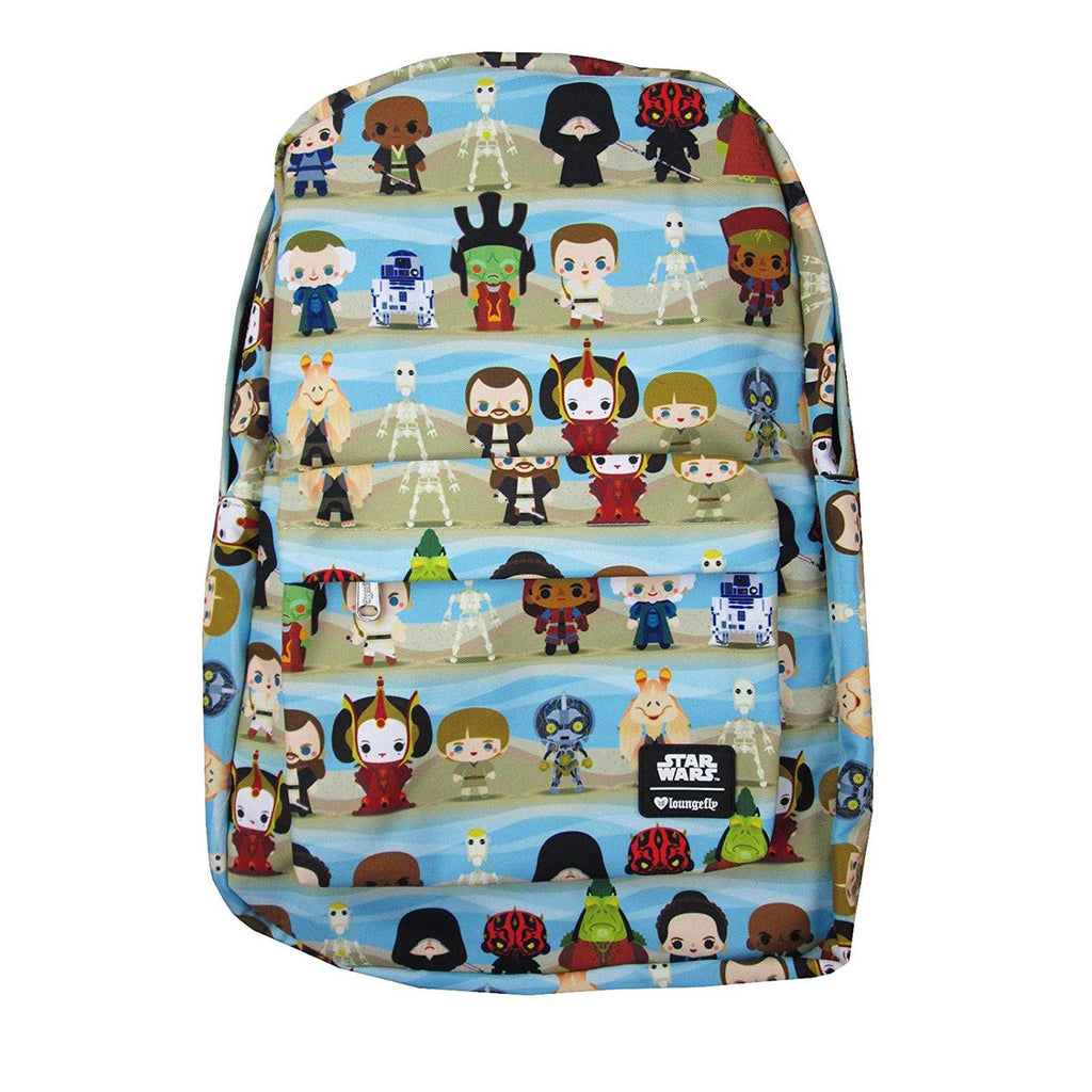 Loungefly Star Wars Phantom Menace Chibi Character Backpack