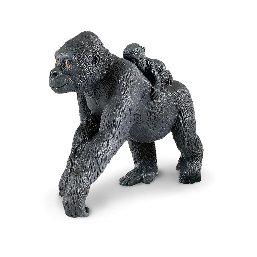Mammal Figures - Lowland Gorilla With Baby Wild Safari Animal Figure Safari Ltd