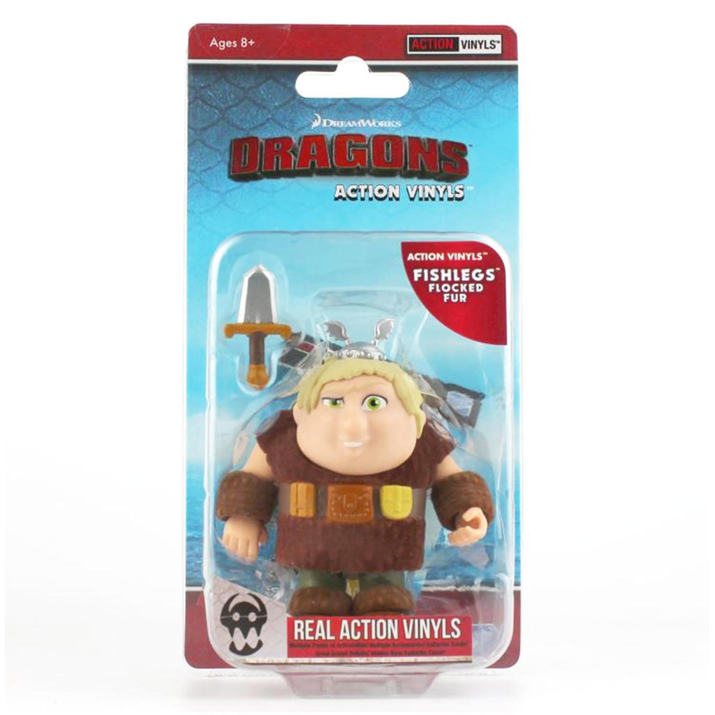 Loyal Subjects How To Train Your Dragon Fishlegs Flocked Real Action Vinyls