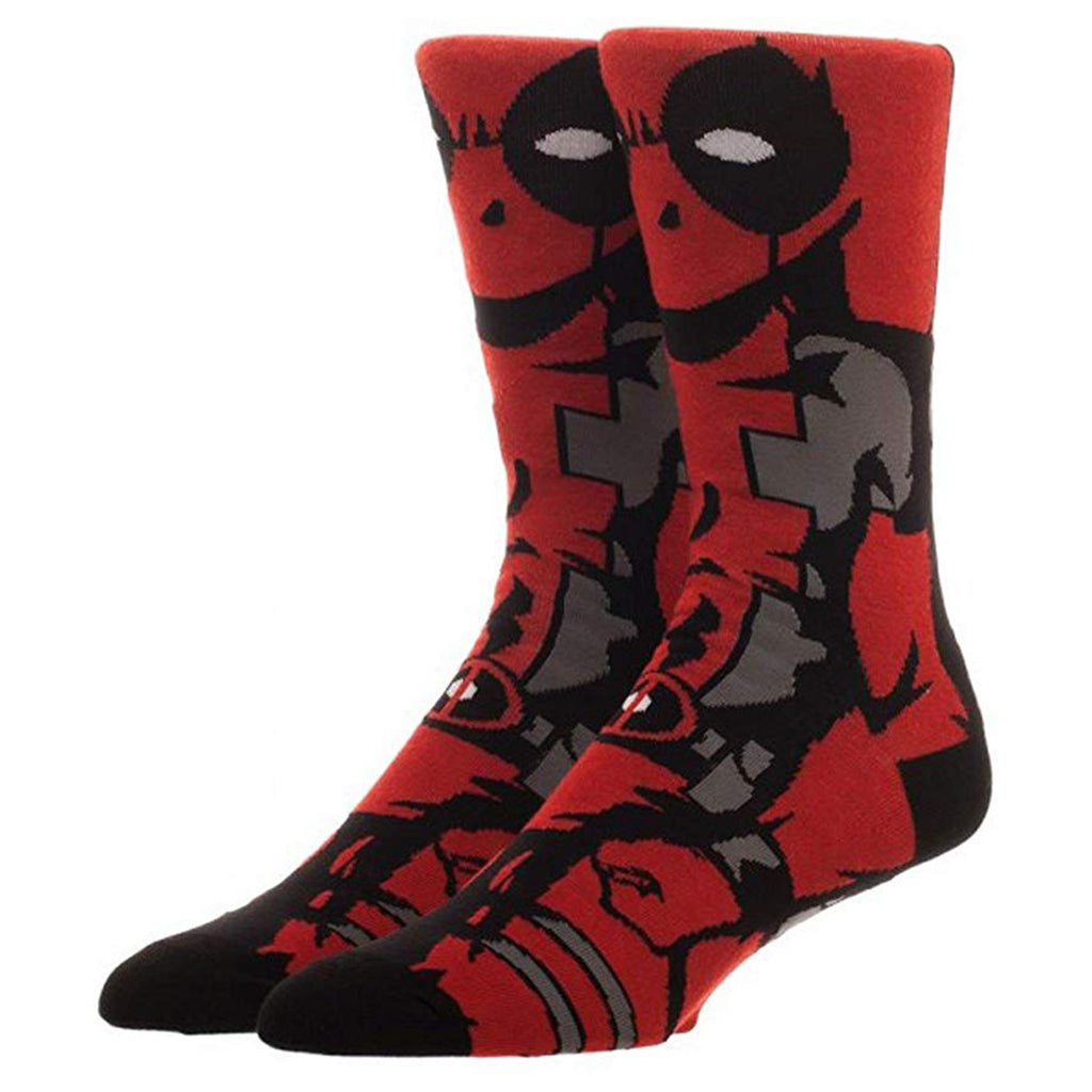 Marvel Deadpool 360 Character Men's One Pair Crew Socks