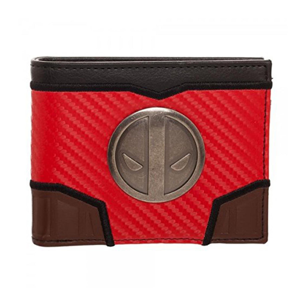 Wallets - Marvel Deadpool Carbon Fiber Bi-Fold Wallet
