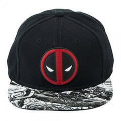 Marvel Deadpool Sublimated Bill Snapback Hat