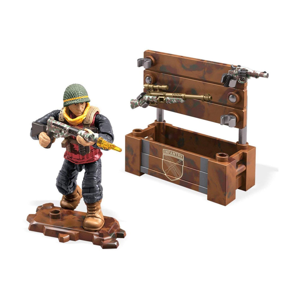Mega Construx Call Of Duty WWII Weapon Crate Building Set