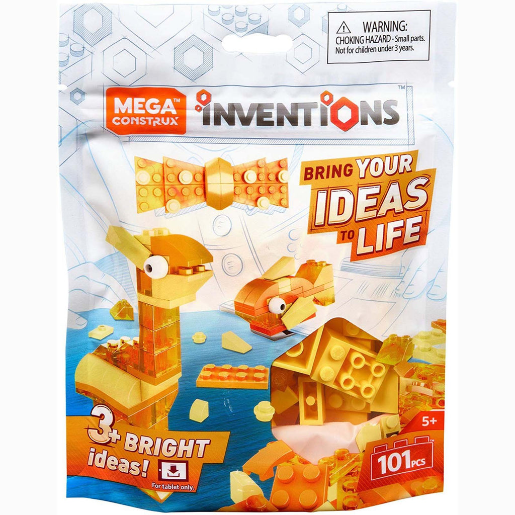 Mega Construx Inventions Yellows Color Pack Building Set