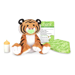 Melissa And Doug Feed Change & Comfort Baby Tiger 9 Inch Plush Figure 30450