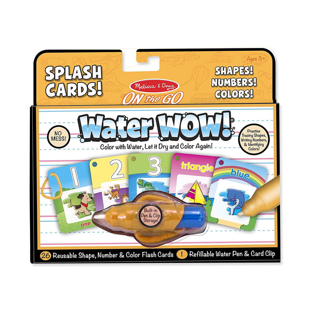 Melissa And Doug Water Wow Splash Cards Shapes Numbers Colors Activity Set