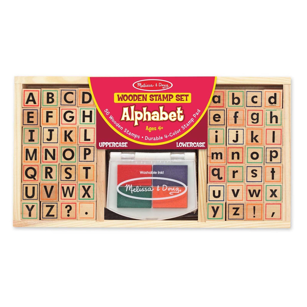 Melissa And Doug Alphabet Wooden Stamp Set