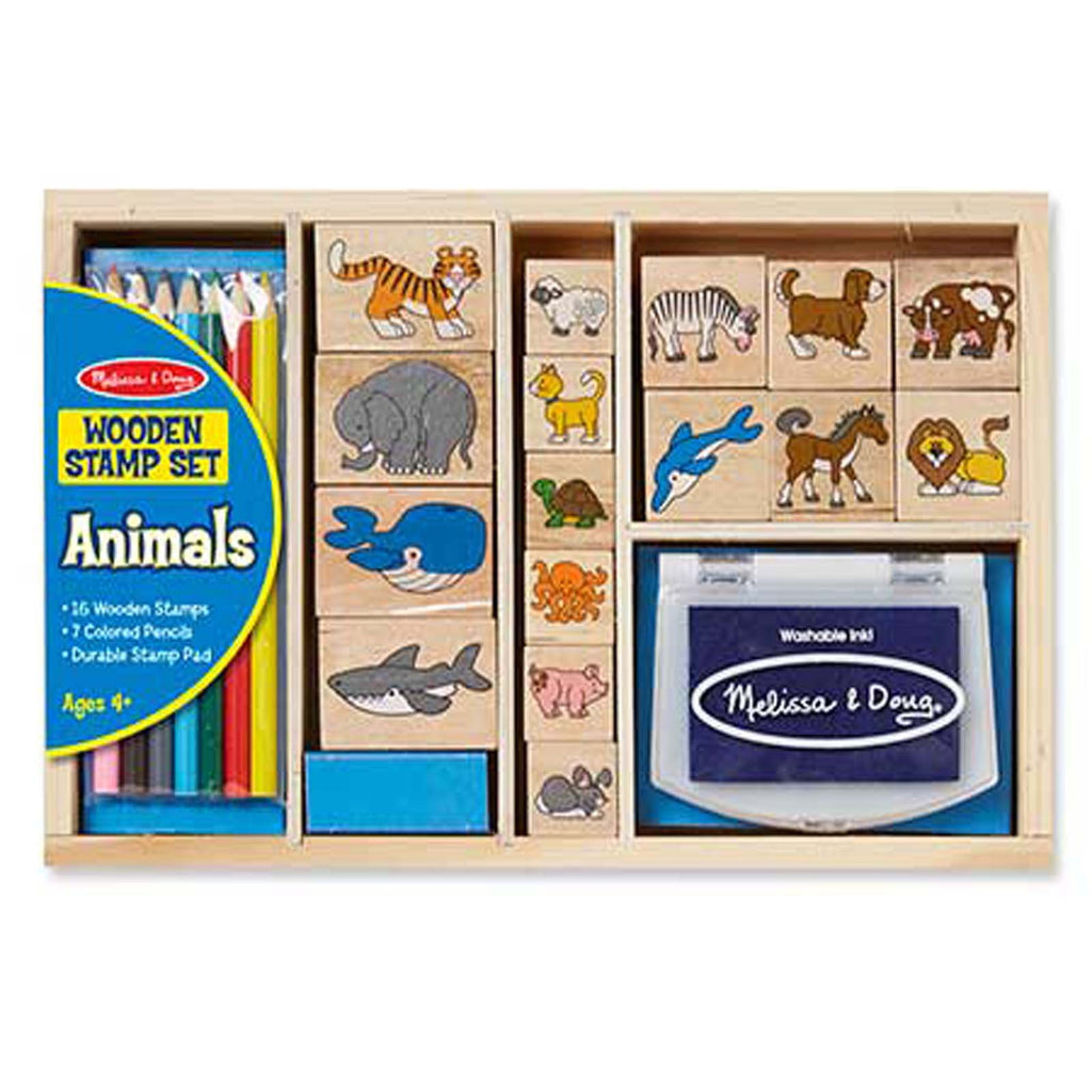 Melissa And Doug Animals Wooden Stamp Set