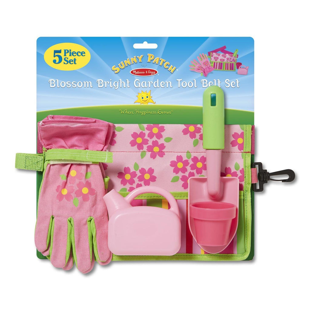 Melissa And Doug Bright Garden Tool Belt Set