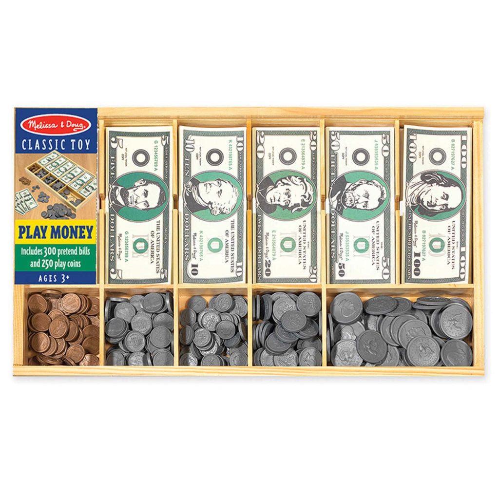 Melissa And Doug Classic Toy Play Money Set