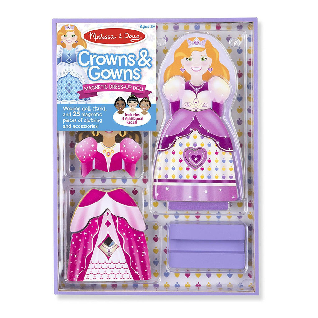 Melissa And Doug Crowns And Gowns Magnetic Dress Up Set