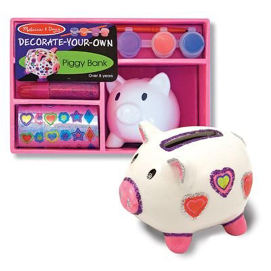 Melissa And Doug Decorate Your Own Piggy Bank Craft Set