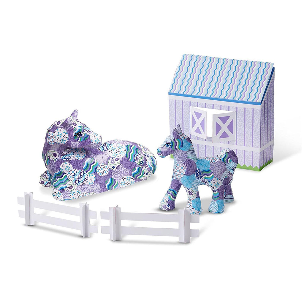 Melissa And Doug Decoupage Horse And Pony Deluxe Craft Set