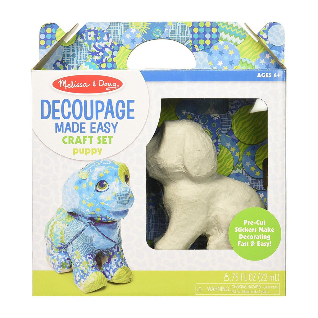 Melissa And Doug Decoupage Puppy Craft Set