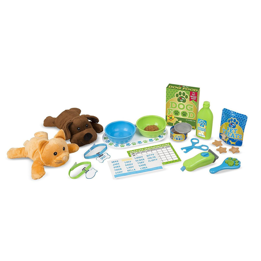 Melissa And Doug Feeding And Grooming Pet Care Play Set