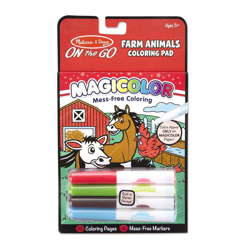 Melissa And Doug On The Go Magicolor Farm Animals Coloring Pad