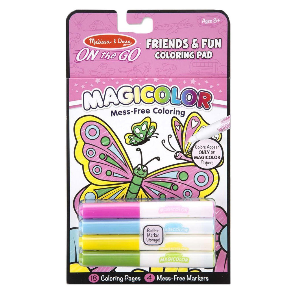 Melissa And Doug On The Go Magicolor Friends And Fun Coloring Pad