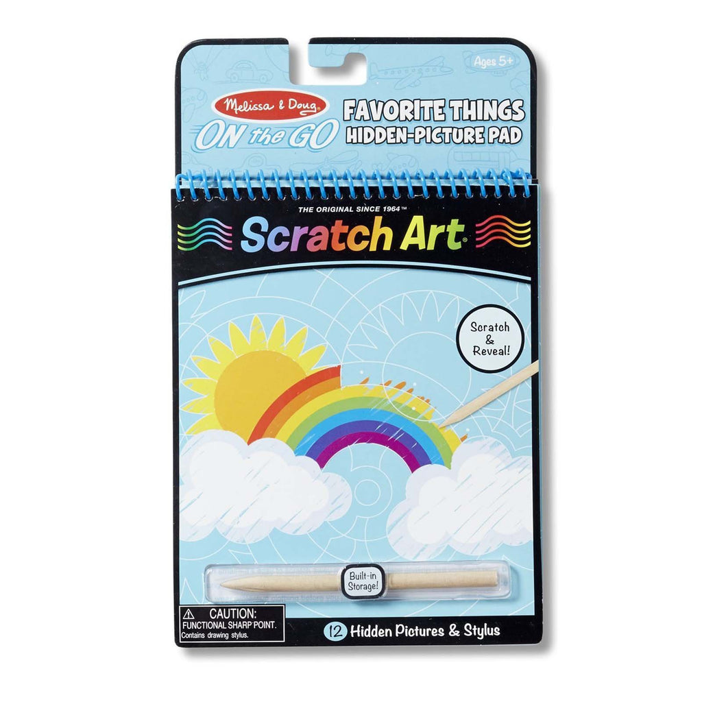 Melissa And Doug On The Go Scratch Art Favorite Things Coloring Pad