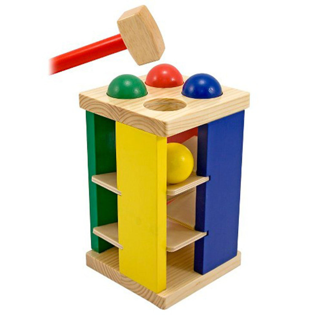 Traditional Toys - Melissa And Doug Pound And Roll Tower Wooden Play Set