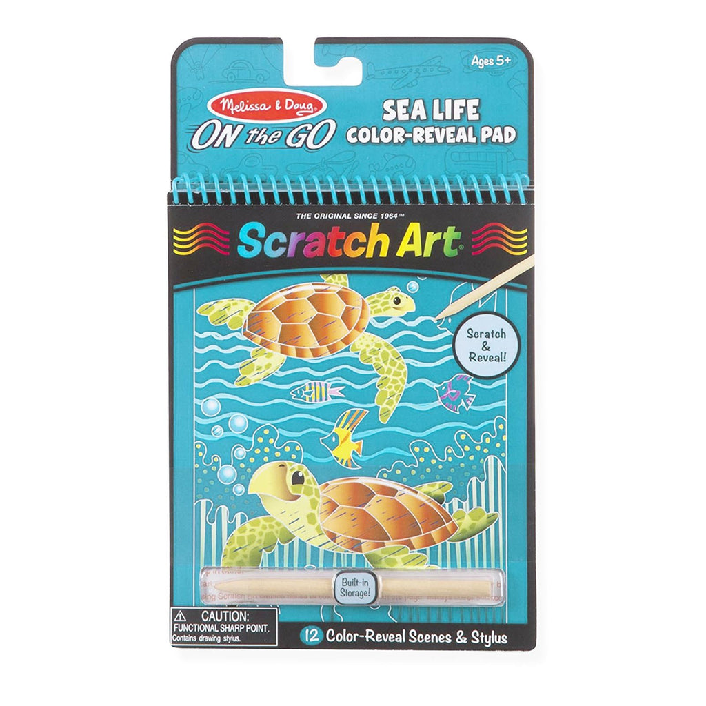 Crafts - Melissa And Doug Scratch Art Sea Life Reveal Pad