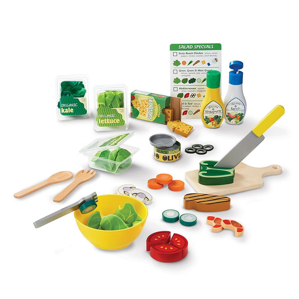 Melissa And Doug Slice And Toss Salad Play Set