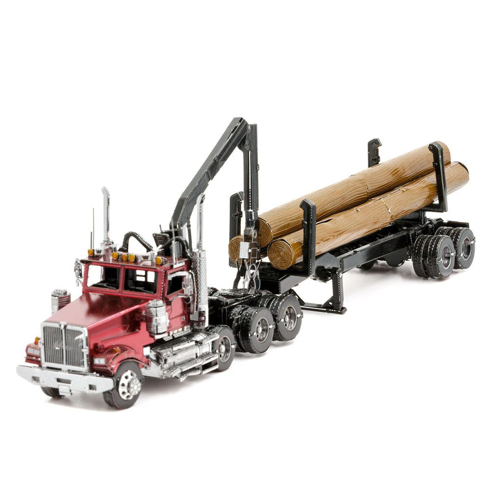 Metal Earth Western Star 4900 Log Truck & Trailer Model Kit ICX136