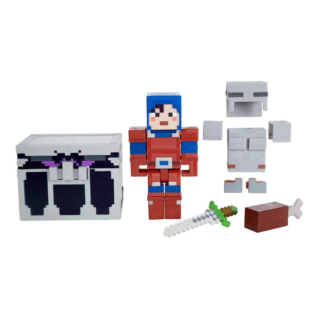 Minecraft Reinforced Mail Armor Battle Chest Action Figure Set