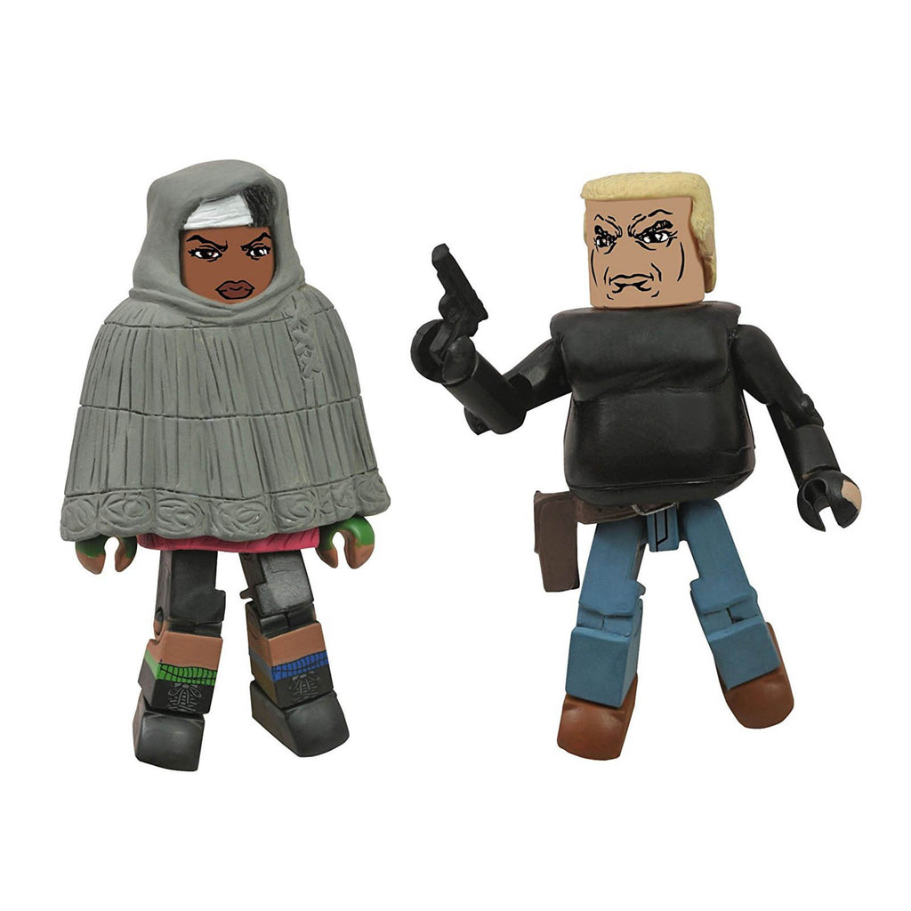 Minimates Walking Dead Series 4 Hooded Michonne And Gabe Figure Set