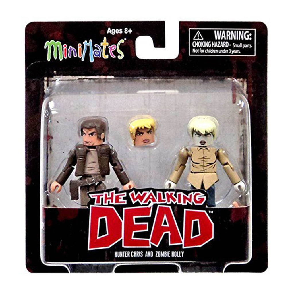 Minimates Walking Dead Series 7 Hunter Chris And Zombie Holly Figure Set