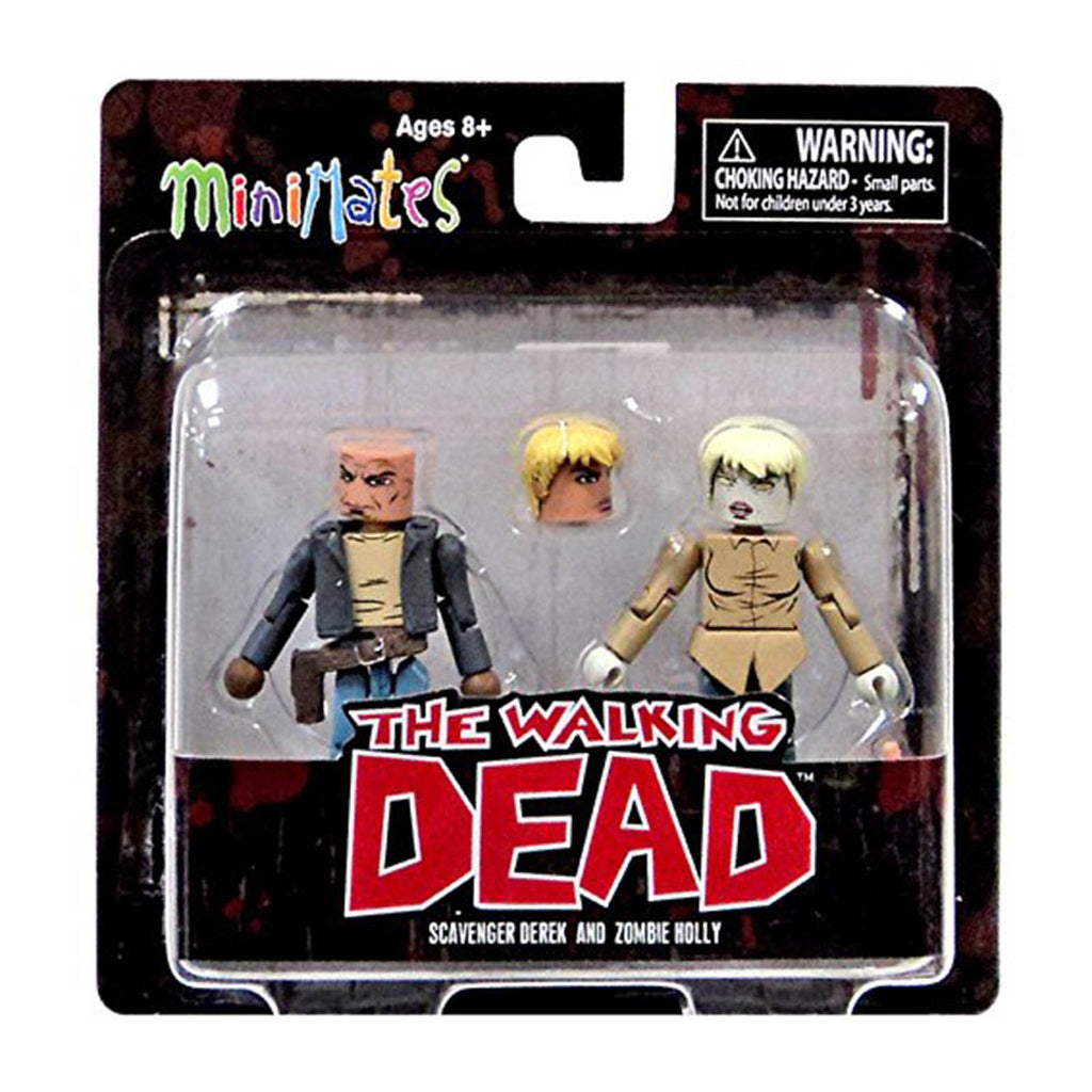 Minimates Walking Dead Series 7 Scavenger Derek And Zombie Holly Figure Set