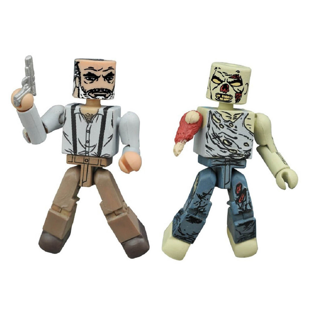 Action Figures - Minimates Walking Dead Series 8 Gregory And Forest Zombie Figure Set