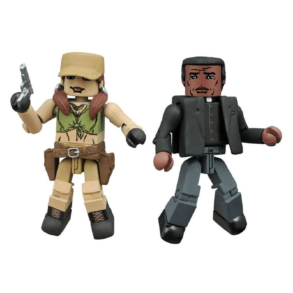 Action Figures - Minimates Walking Dead Series 8 Rosita And Father Gabriel Figure Set