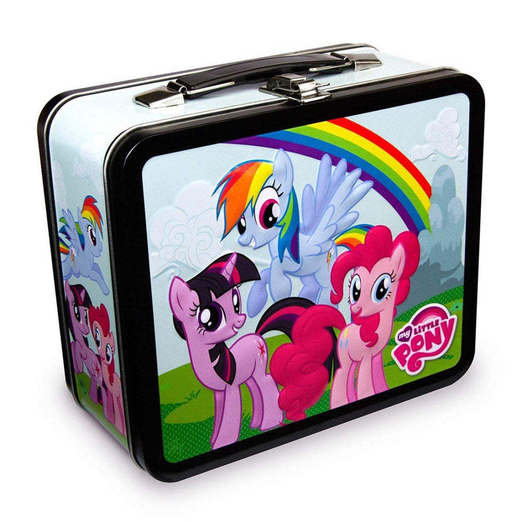 Lunch Boxes - My Little Pony Group Rainbow Metal Tin Lunch Box