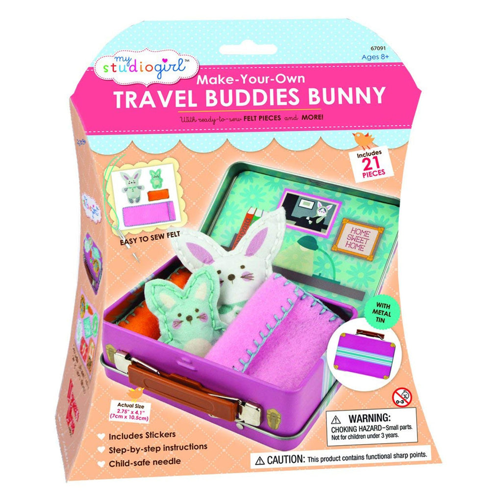 My Studio Girl Make Your Own Travel Buddies Bunny Sew Set