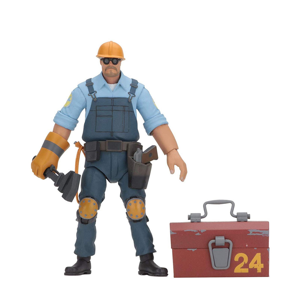 NECA Team Fortress 2 The Engineer Blue Team Action Figure
