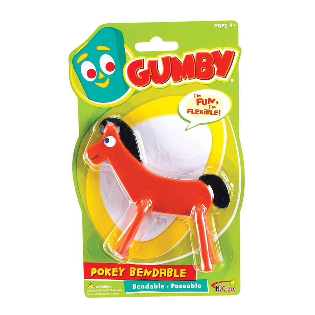NJ Croce Gumby Pokey Bendable 4 Inch Figure