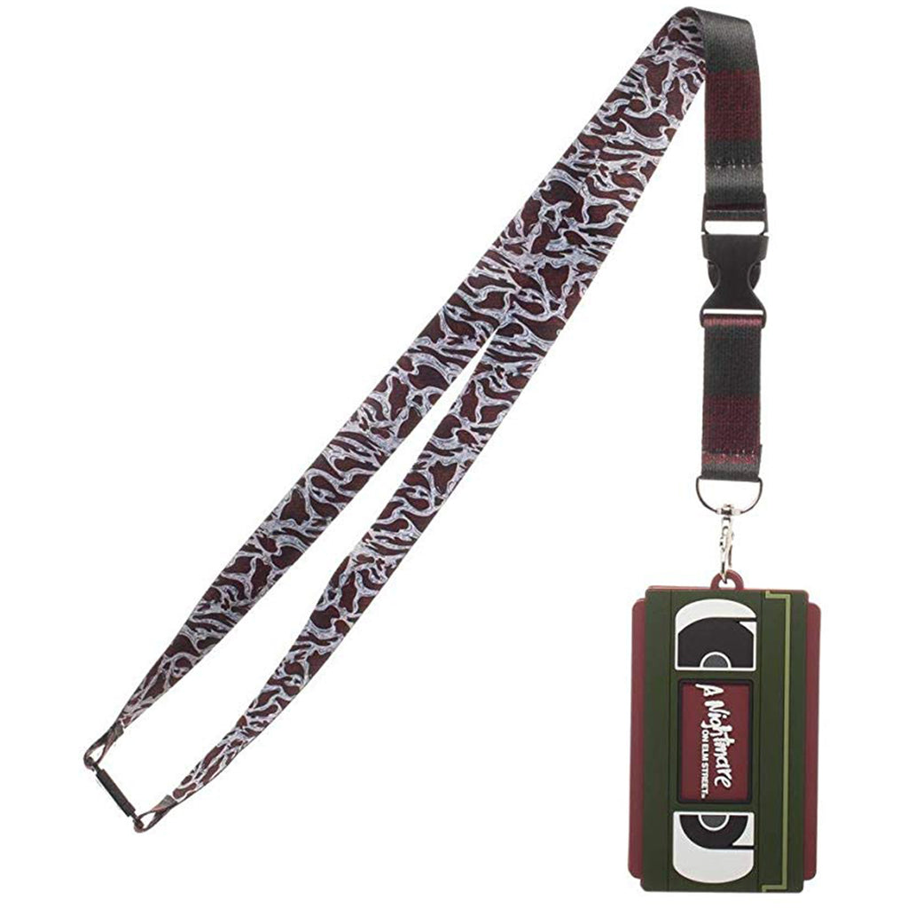 Nightmare On Elm Street VHS ID Badge Holder Lanyard
