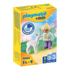 Playmobil 123 Fairy Friend With Fawn Building Set 70402