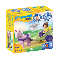 Playmobil 123 Unicorn Carriage With Fairy Set 70401