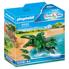 Playmobil Alligator With Babies Set 70358