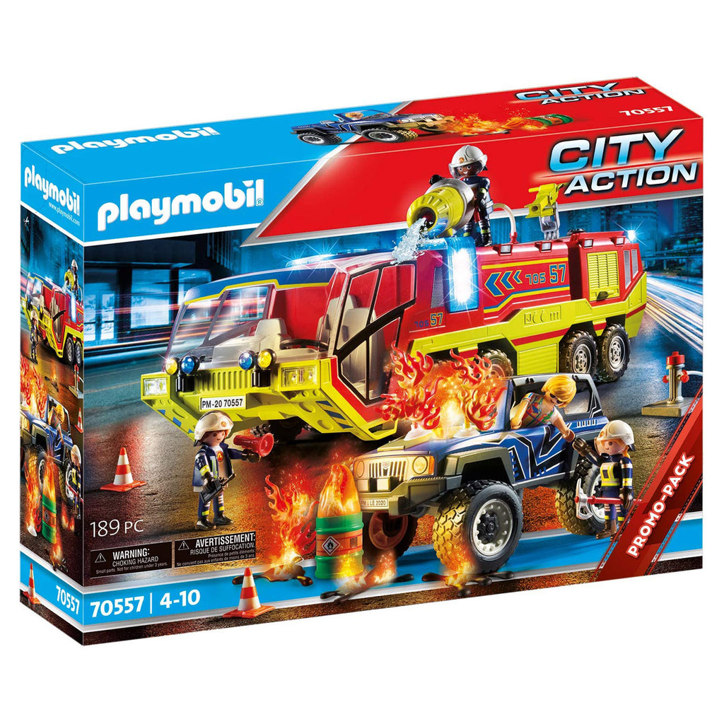 Playmobil City Action Fire Engine With Truck 70557