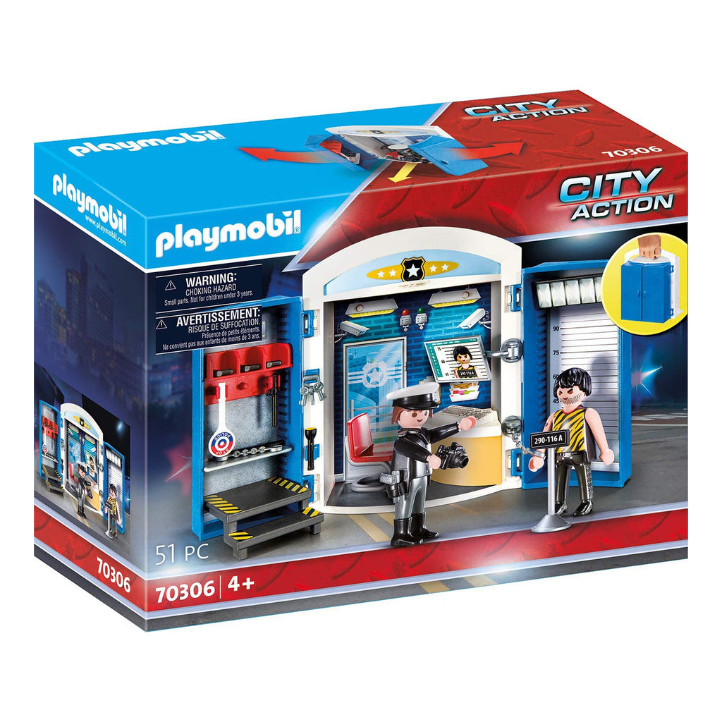 Playmobil City Action Police Station Play Box Building Set 70306