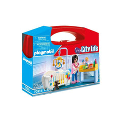 Playmobil City Life Nursery Carry Case Building Set 70531