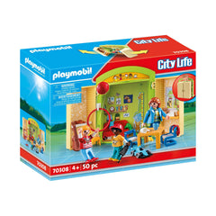 Playmobil City Life Preschool Play Box Building Set 70308