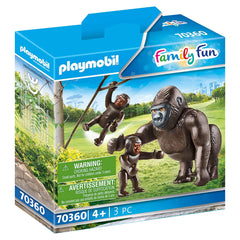 Playmobil Gorilla With Babies Set 70360