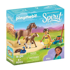 Playmobil Spirit Riding Free Pru With Horse And Foal 70122